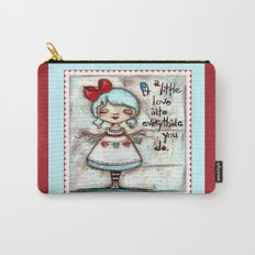 Made with Love - Heart String Tugger Carry-All Pouch