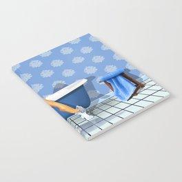 The sexy blue bathroom Notebook