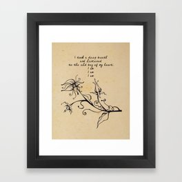 Sylvia Plath - I am Framed Art Print
