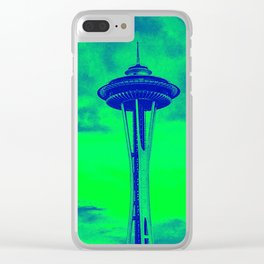 Space Needle (Seahawks Colors) Clear iPhone Case