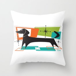 Mister Peepers Retro Mid Century Modern Design Throw Pillow