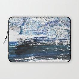 Gray-blue watercolor Laptop Sleeve