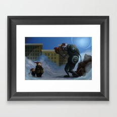 Robots Aint Scary Framed Art Print