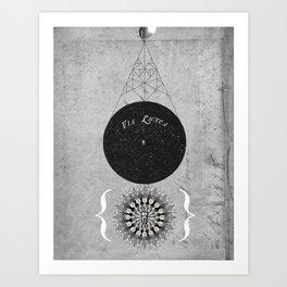 Finch Moon Art Print
