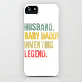 Funny Men Vintage T Shirt Husband Baby Daddy Inventing Legend iPhone Case