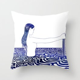 Water Nymph XXVI Throw Pillow