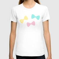bows T-shirts featuring Pastel Bows by XOOXOO