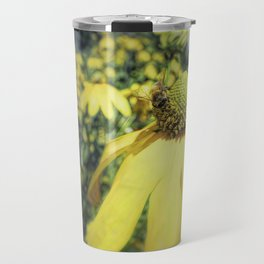 Bees on Yellow Flower Travel Mug
