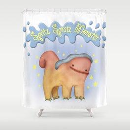 Spritz Spratz Monster Shower Curtain