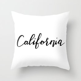 California (CA; Calif.) Throw Pillow