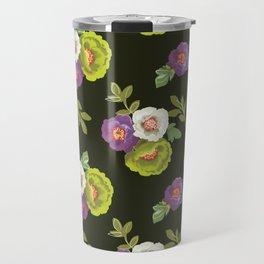green floral Travel Mug