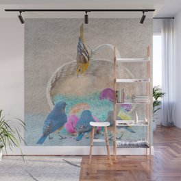 Colorful Birds & eggs Wall Mural