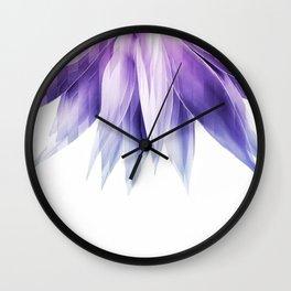 Agave geo fringe - amethyst Wall Clock