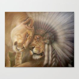 A Lion Love Story Canvas Print