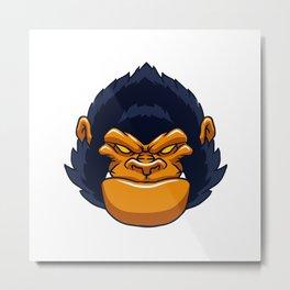 angry ape gorilla face Metal Print