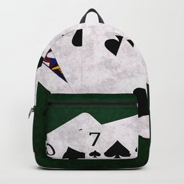 Poker Hand Flush Spades Backpack