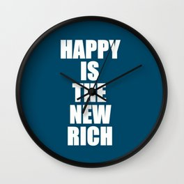 Happy Rich Wall Clock