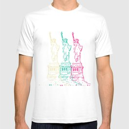 Triple Statue of Liberty T-shirt