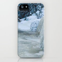 The icewalk in Maligne Canyon, Jasper National Park iPhone Case