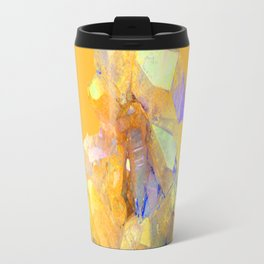 YELLOW QUARTZ CRYSTAL GOLDEN COLOR DESIGN Travel Mug
