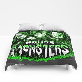 House of Monsters Phantom Frankenstein Dracula classic horror Comforters