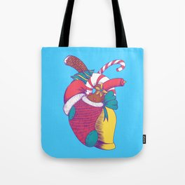 Christmas Heart Tote Bag