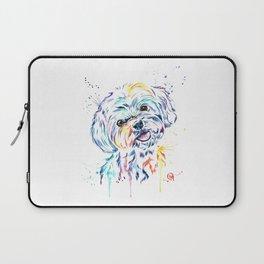 Havanese Colorful Watercolor Pet Portrait Painting Laptop Sleeve