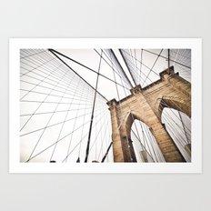 Brooklyn Bridge I Art Print