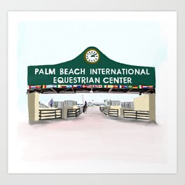 Palm Beach Equestrian Center Art Print