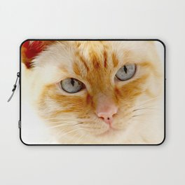 Cat with the blue eyes, cat face print Laptop Sleeve