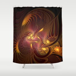 Coming Home, Abstract Fantasy Fractal Art Shower Curtain
