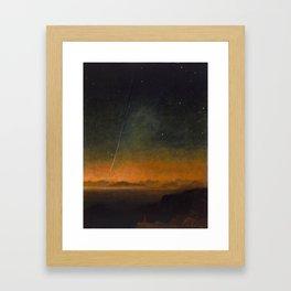 Smyth - The Great Comet of 1843 Sunset Magical Stars Framed Art Print