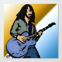 dave matthews Canvas Prints featuring Dave by Kramcox