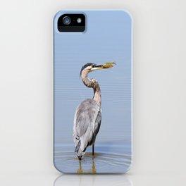 Great Blue Heron Fishing - I iPhone Case