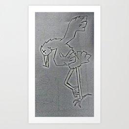 bird dancing Art Print