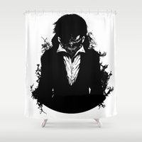 tokyo ghoul Shower Curtains featuring Kaneki Tokyo Ghoul 3 by Prince Of Darkness