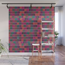 """Full Color Squares Pattern"" Wall Mural"