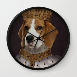 The Most Regal of the Beagles Wall Clock