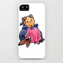 Cat wheelchair mermaid girl gift iPhone Case