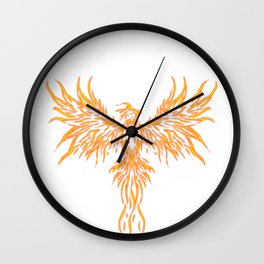Phoenix Mythical  Vibrant Secular Long-Lived Gift  Wall Clock