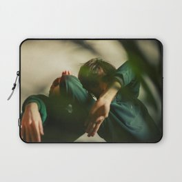 [3] Dancing people, dance, shadows, hands and plants, blurred photography, artistic, forest, yoga Laptop Sleeve