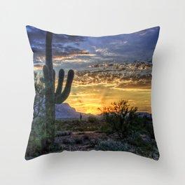 Sonoran Sunrise Throw Pillow