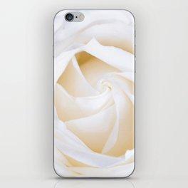 White rose flower iPhone Skin
