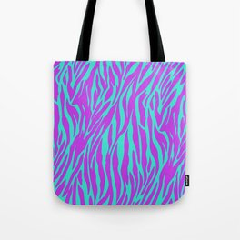 Purple and Green Zebra print Tote Bag