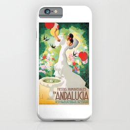 1941 SPAIN Andalucia Springtime Festivals Poster iPhone Case