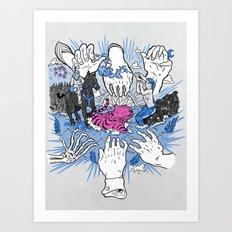 Foul Fingers Art Print
