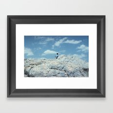 MEN IN BLUE Framed Art Print