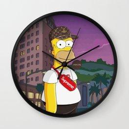 simpson bape supreme Wall Clock