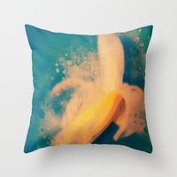 banana Throw Pillows featuring Banana by Mr and Mrs Quirynen