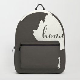 West Virginia is Home - White on Charcoal Backpack